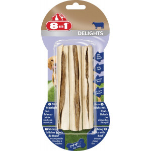 Baton à macher 8 en 1 delights beef sticks